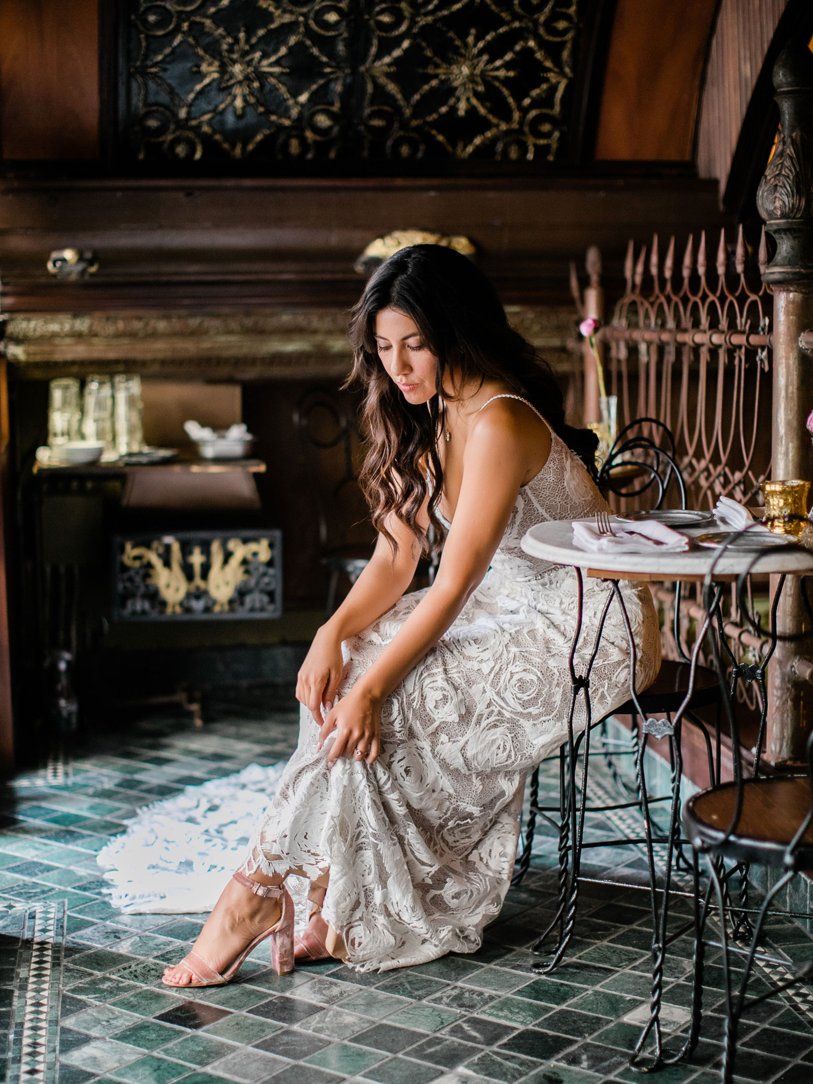 Stephanie Beatriz 's wedding to  Brad Hoss.  This image was taken at   The Wolves   in Downtown Los Angeles. (Credit: Shauntelle Sposto / Sposto Photography)   See More
