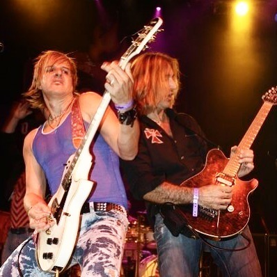 #waybackwednesday Check out this shot from back in the day!  Victor Bender and August Zadra shred together!  #lightsband