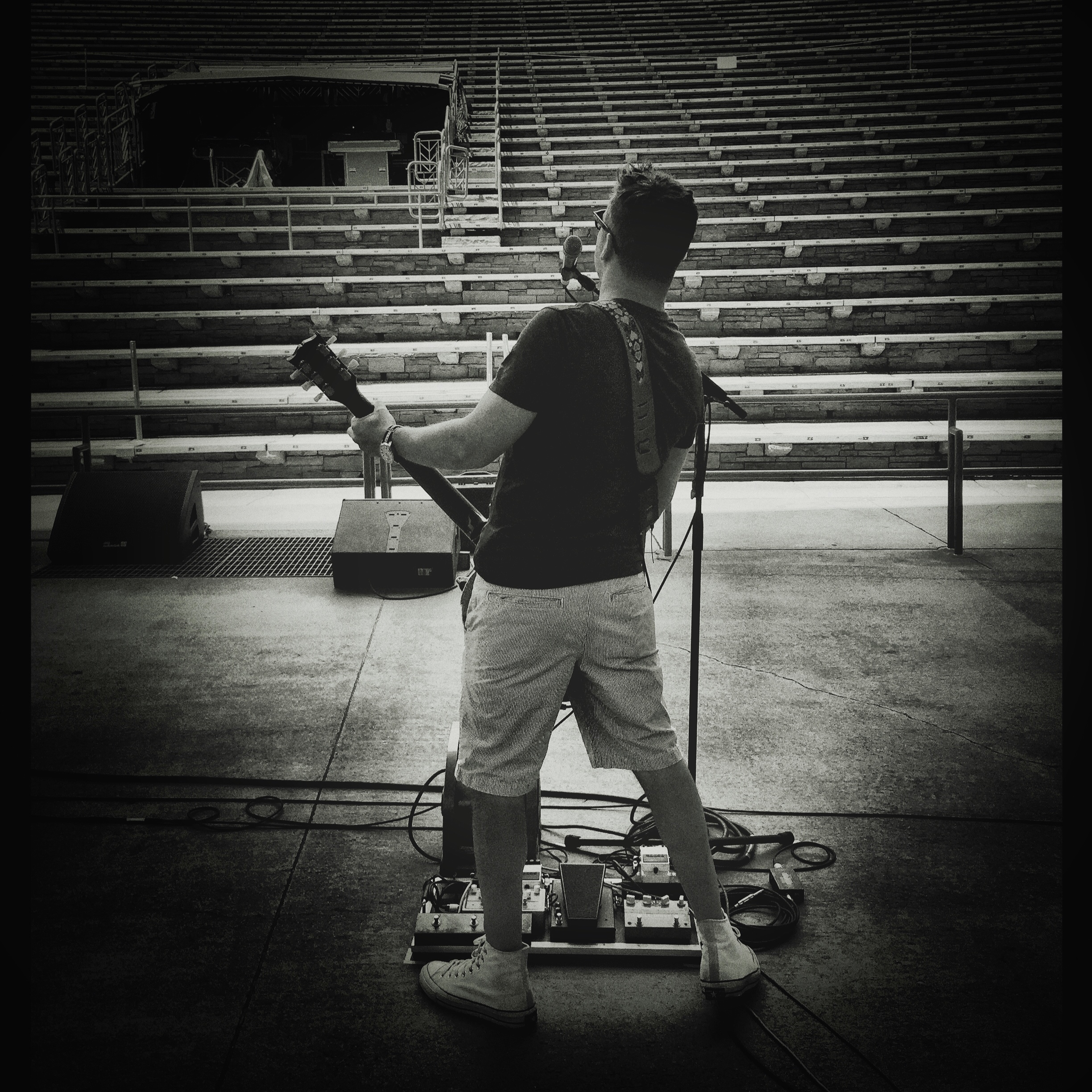 Almost living out my dream of rock stardom. - Red Rocks, Colorado