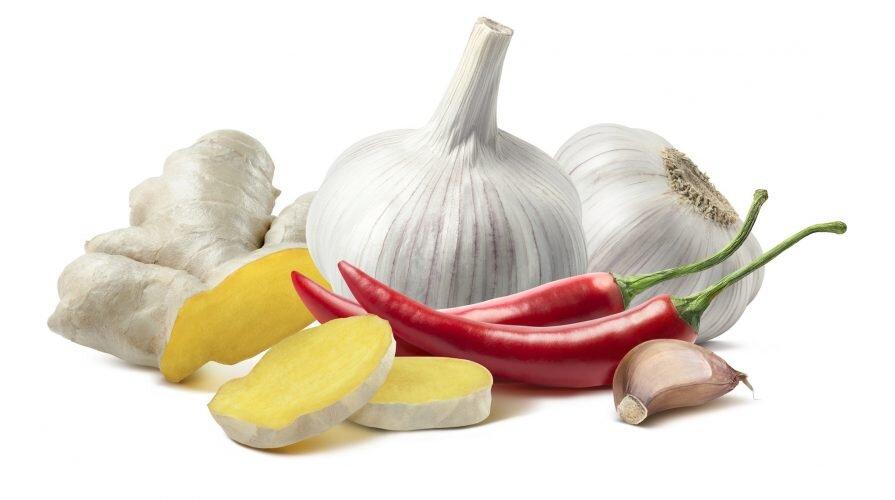 En herlig blanding av blant annet ingefør og hvitløk som kan kurerer GRUFF.