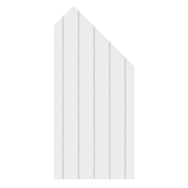 45° Single Cut with Countercut   Additionally, there are variations on the 45° single cut, with some manufacturers making the cut all the way out through the outermost ply, while others offer a slight countercut in order to bring the apex farther inward.