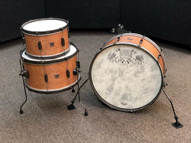 Here's a really great kit where we experimented with the wood and dimensions. This is a birch kit with big diameters and shallow depths. It makes for big body, fat sound and not too many overtones.  Available in our shop now.