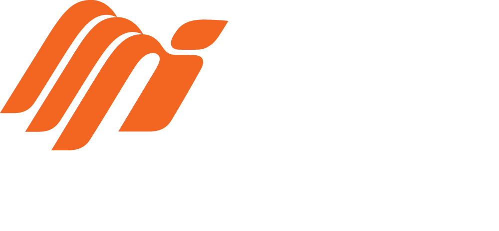 Mighty Orange, White text, Transparent.png