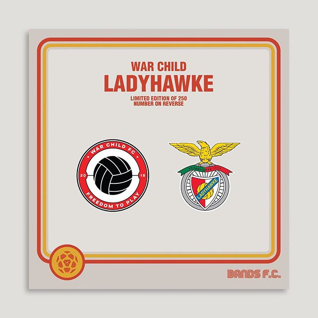 Hey everyone, I'm really proud to be part of an amazing project with @_bands_fc and @warchilduk raising funds for their #WarChildFC programmes. We're releasing a limited number of enamel badges, twin sets of my Ladyhawke FC crest, paired up with a War Child FC crest on Friday 30th July via www.bandsfc.com  Tonnes of other cool bands and artists are involved too! Thanks heaps in advance for your support, Pip x x x