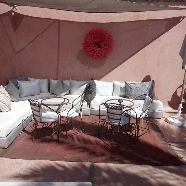 Raid Zamzam sunny terrace. #riadmarrakech #guesthousemarrakech #hotelmarrakech #terracehouse  #holiday #holidaymarrakech