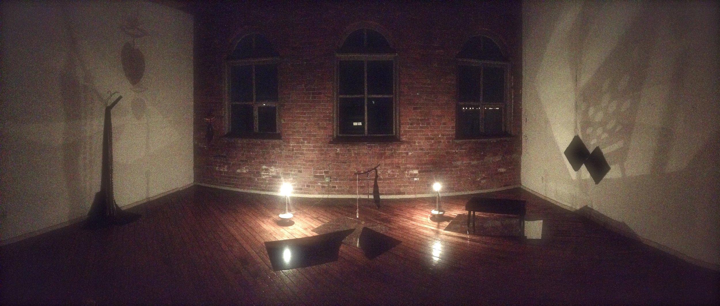 installation view, night