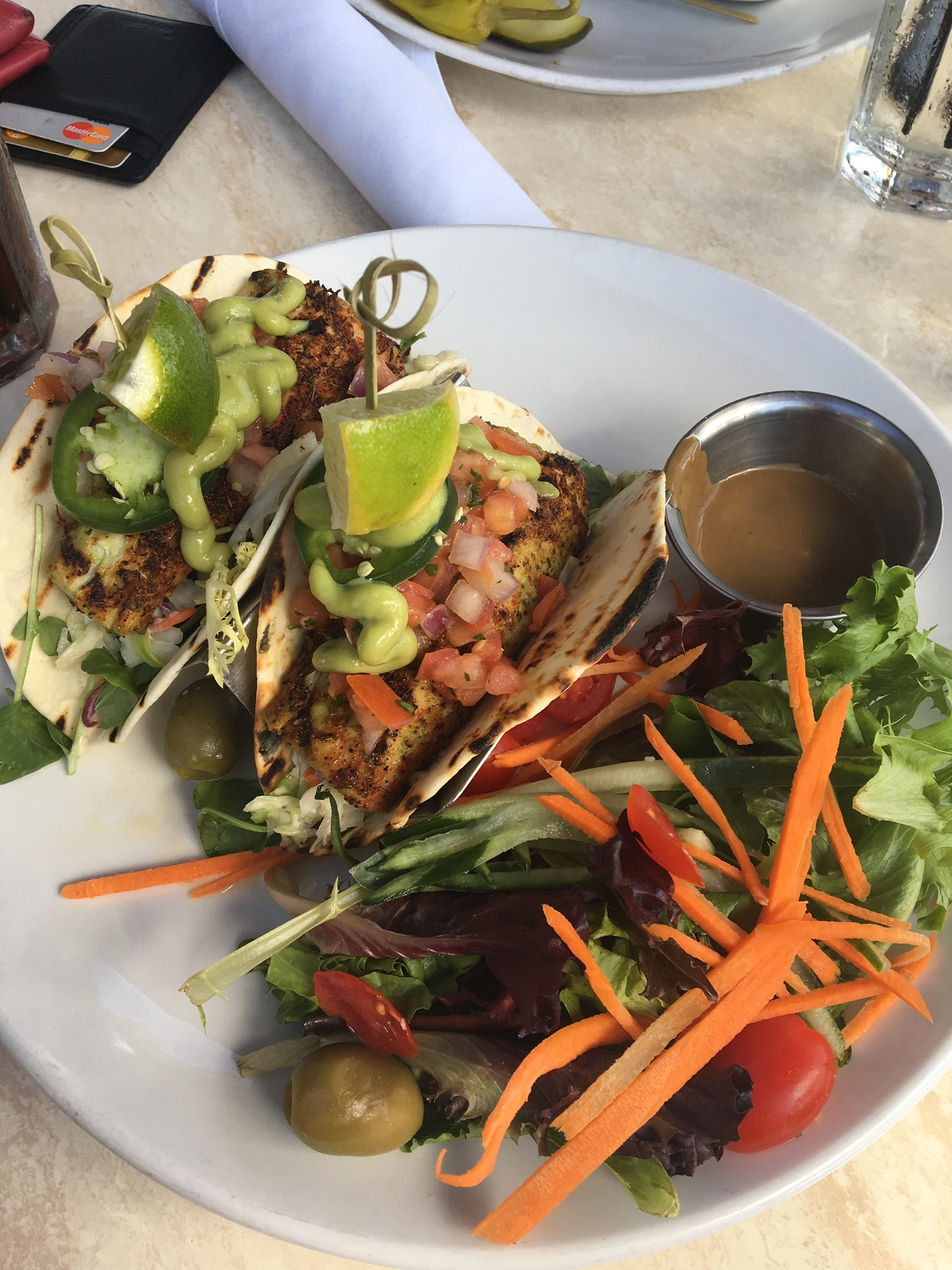 Casablanca Cafe is right on the beach in Fort Lauderdale - it's been a family favorite of ours for years. Lime cilantro fish tacos are my go-to, but only served during lunch.