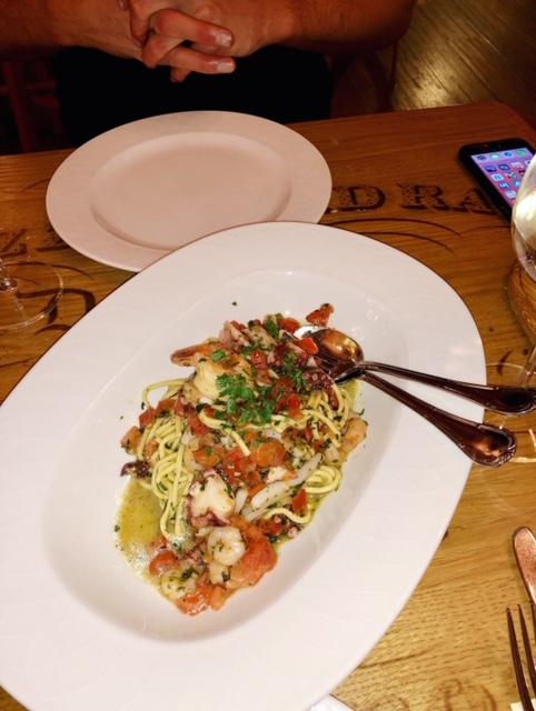 The pasta from Rossini Restaurant Pizzeria - so fresh!!