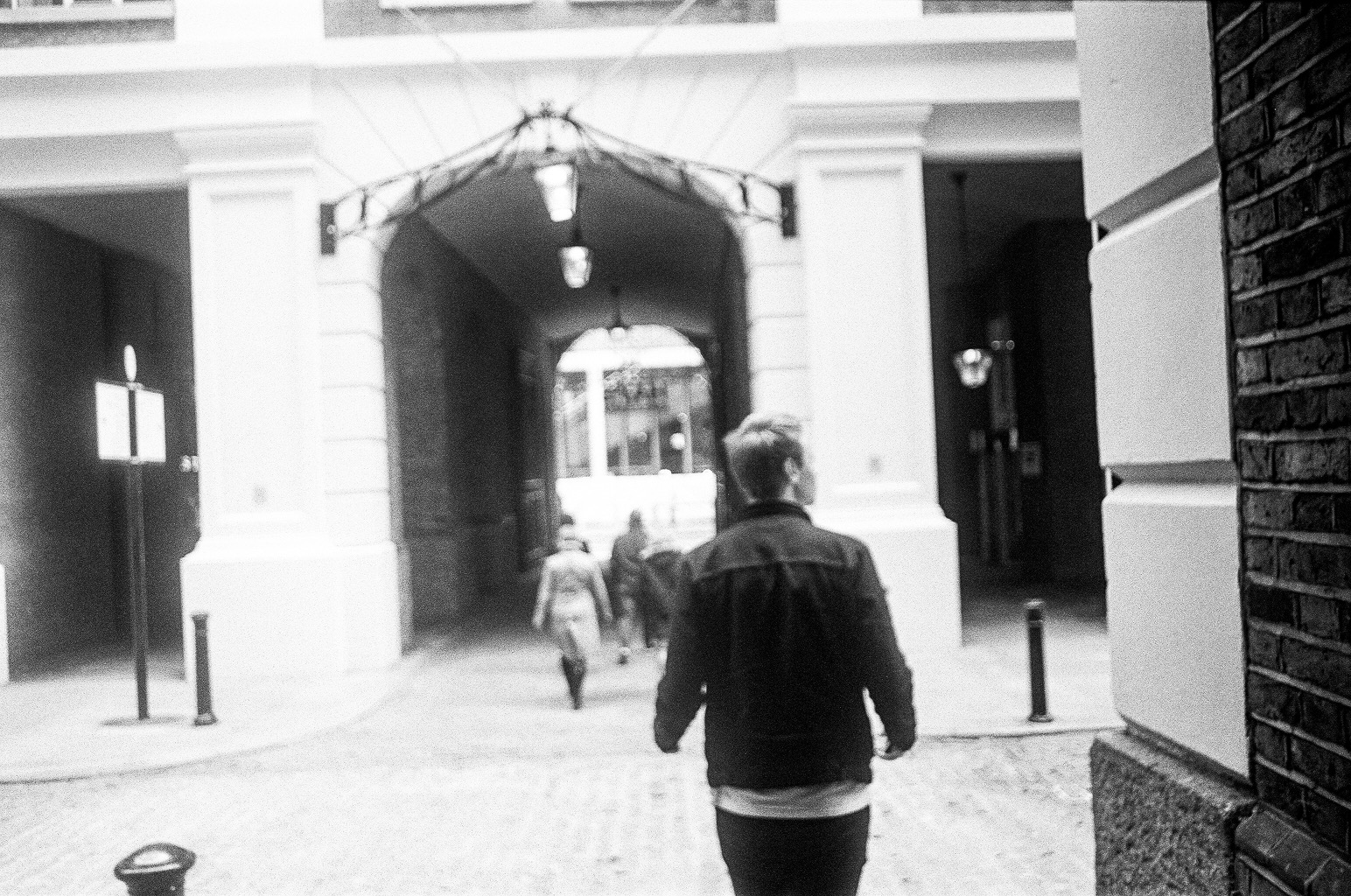 Jack Spring walking in London