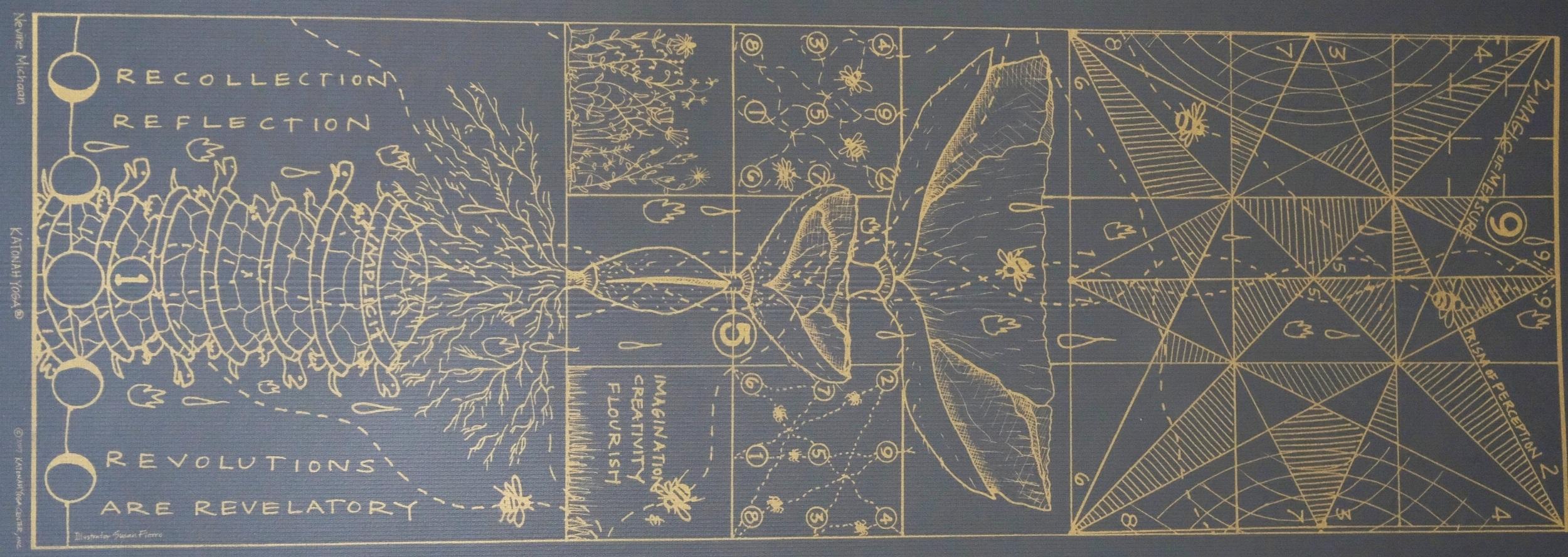 Katonah X Manduka Mat in Charcoal + Gold  — $75.00