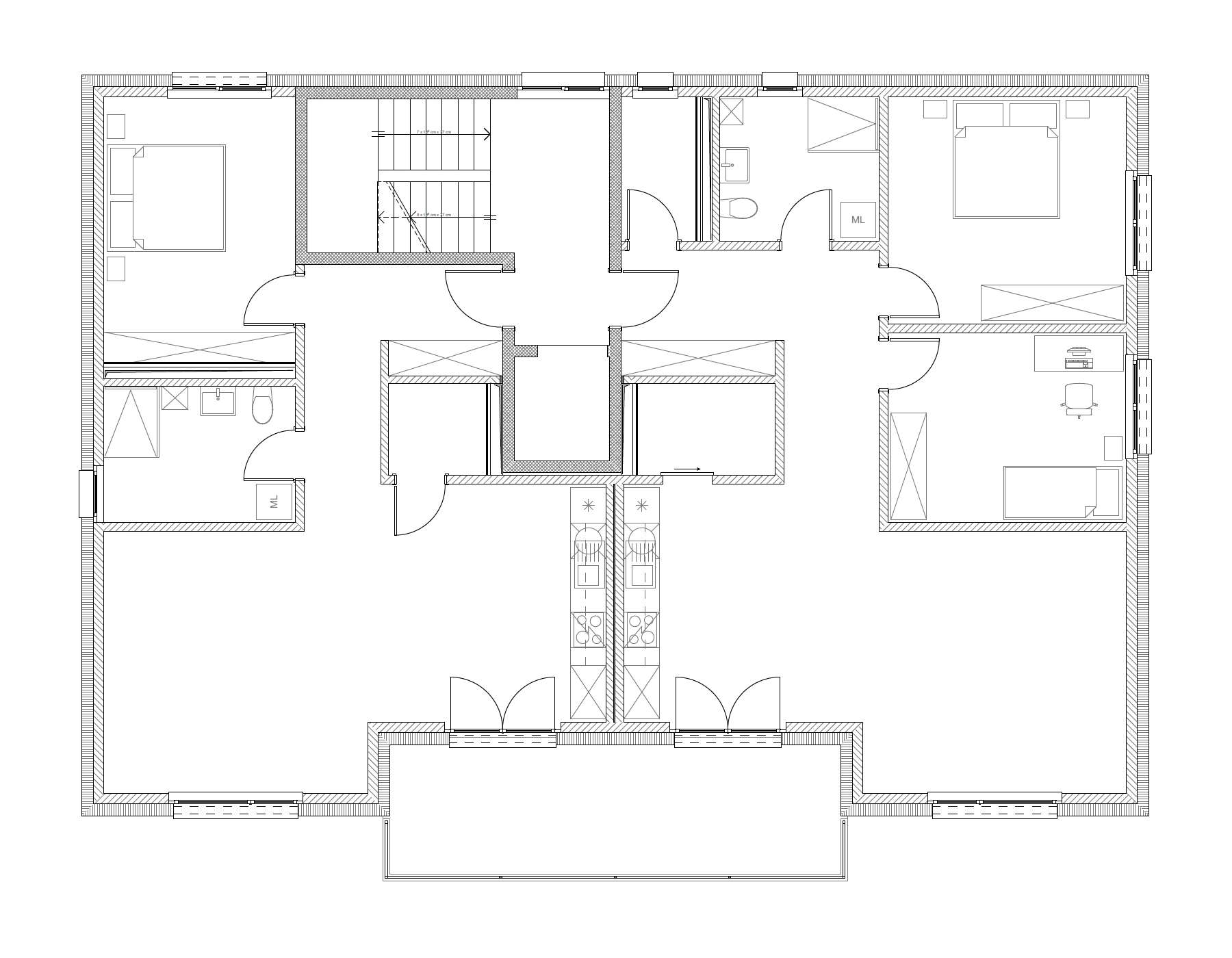 Bâtiment B, 1er étage