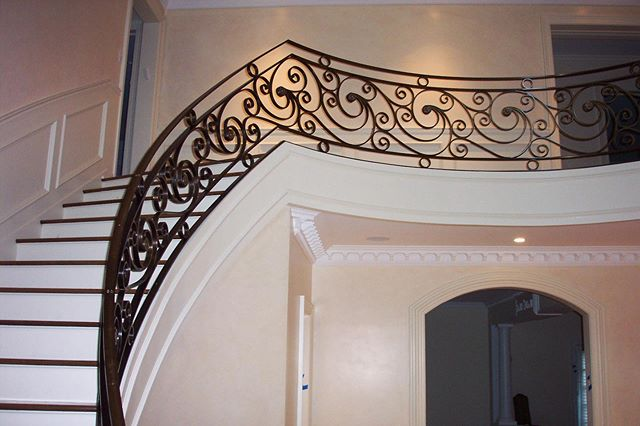 Spectacular curved bronze floral Banister, post-installation as well as during fabrication and finishing. . . . . . #design #architecture #art #bronze #bronx #newyork #nyc #interiors #interiordesign #modern #floral #furniture #brass