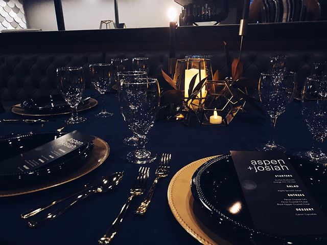 #tbt to our styled wedding shoot! The venue was decked out for the ULTIMATE brooding wedding reception. Can't wait to post more photos! Thank you to everyone who made this set up possible!
