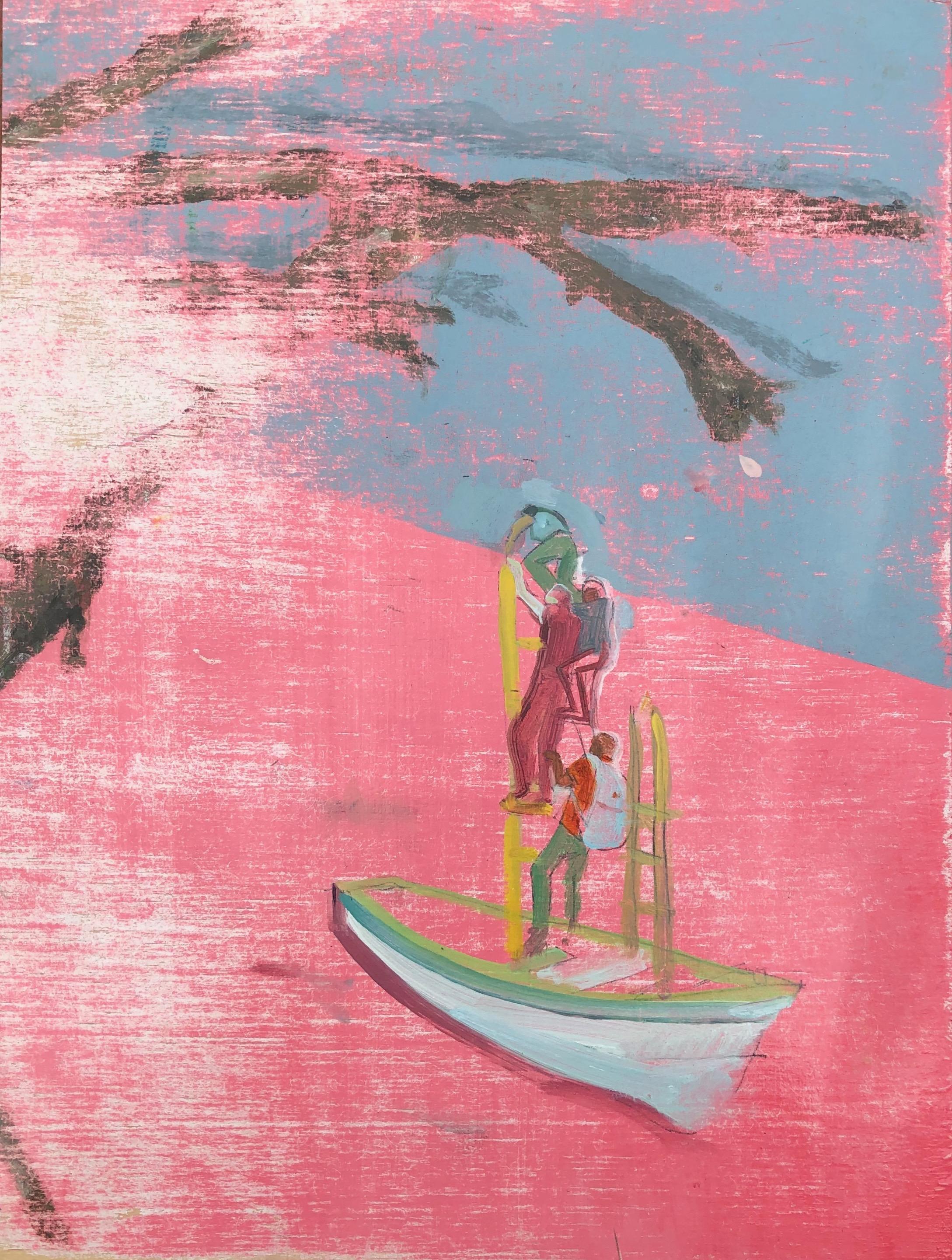 Pink Ocean,  2018, oil on panel