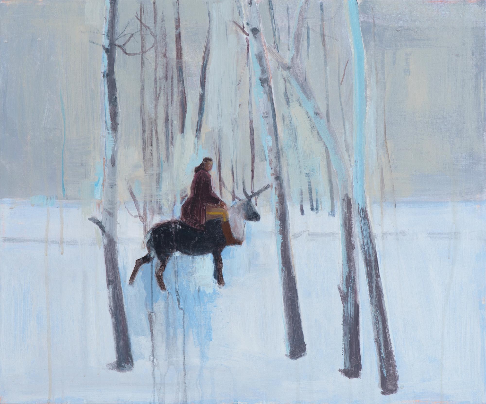 """The Deserter,  2011, acrylic on canvas, 19"""" x 23"""""""