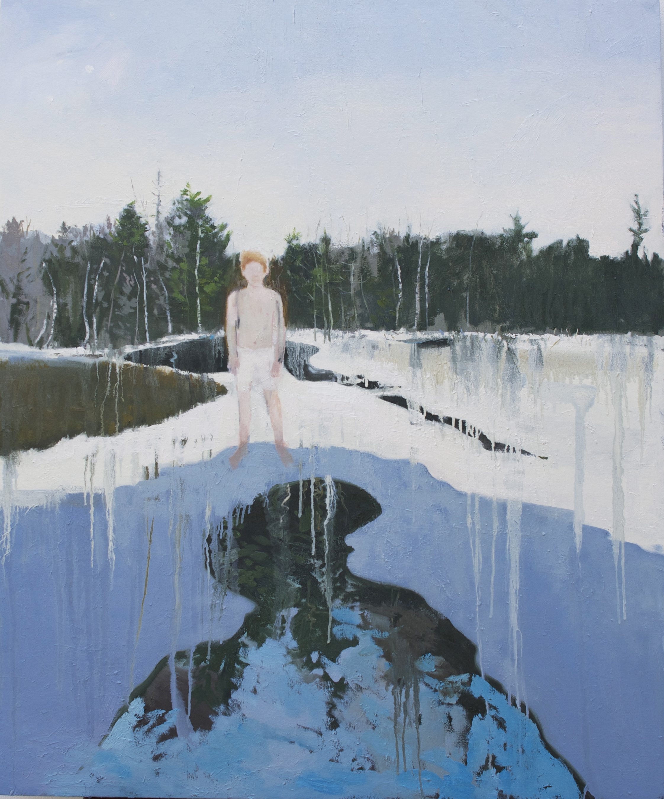 "Melt, 2012, oil on canvas, 54"" x 48"""