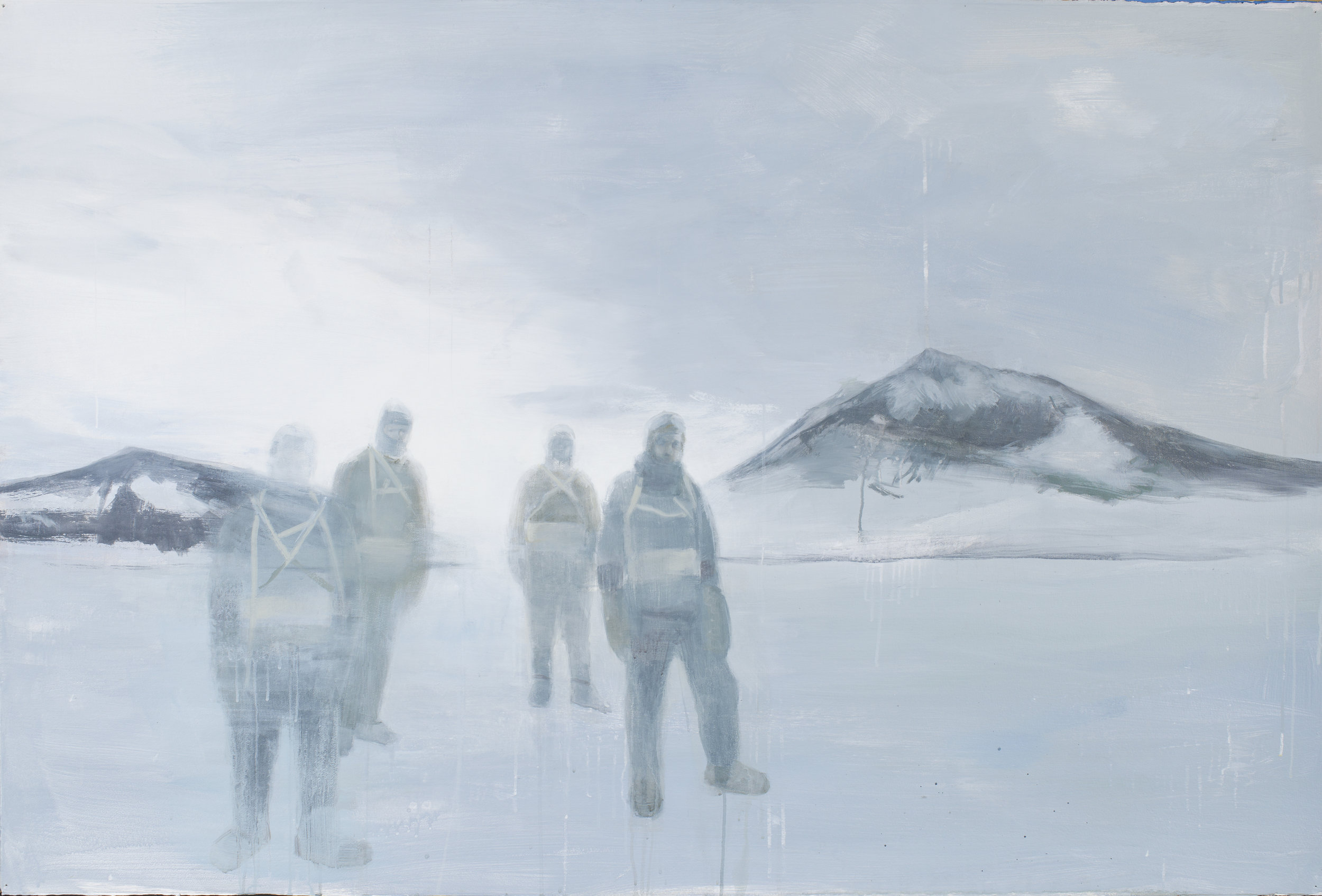 "The Lost Men (100 Years Ago),  2012, acrylic on paper, 40"" x 60"""
