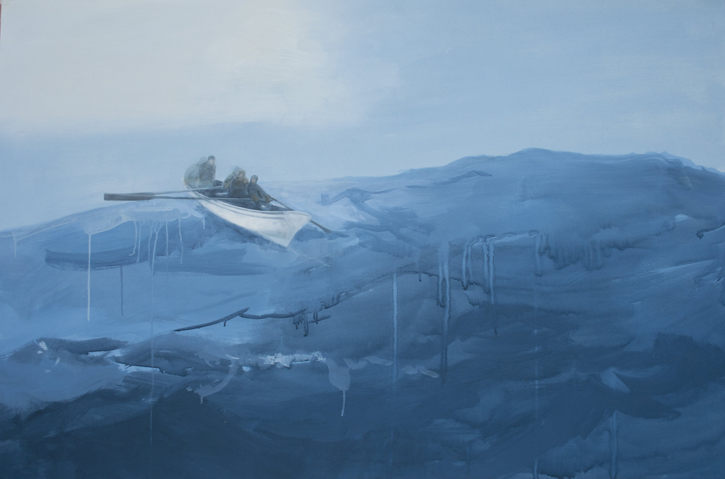"""Southern Swell,  2012, acrylic on paper, 40"""" x 60"""""""