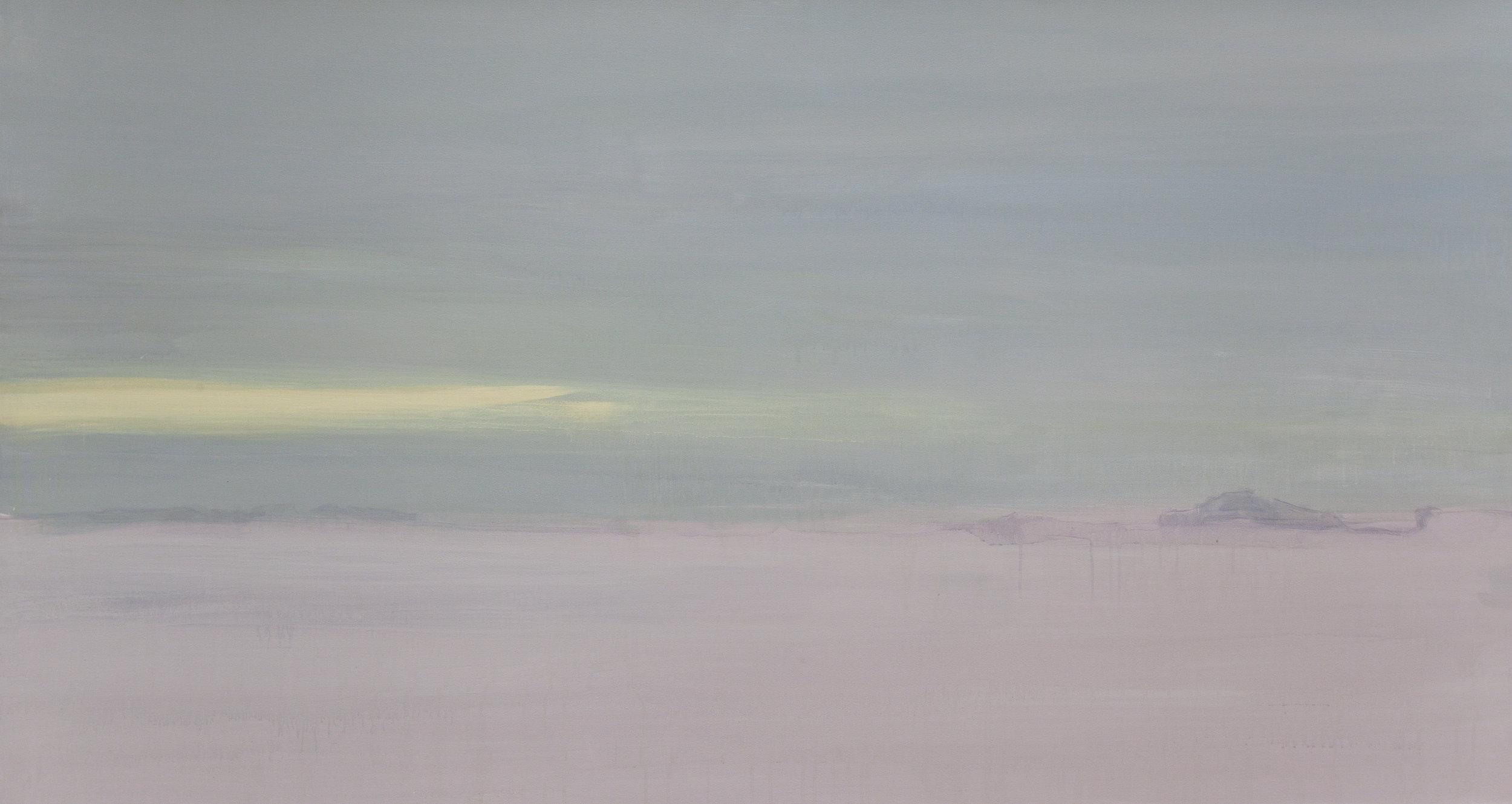 "Ghost  (Triptych),   2012, acrylic on canvas, 30"" x 84"" each"