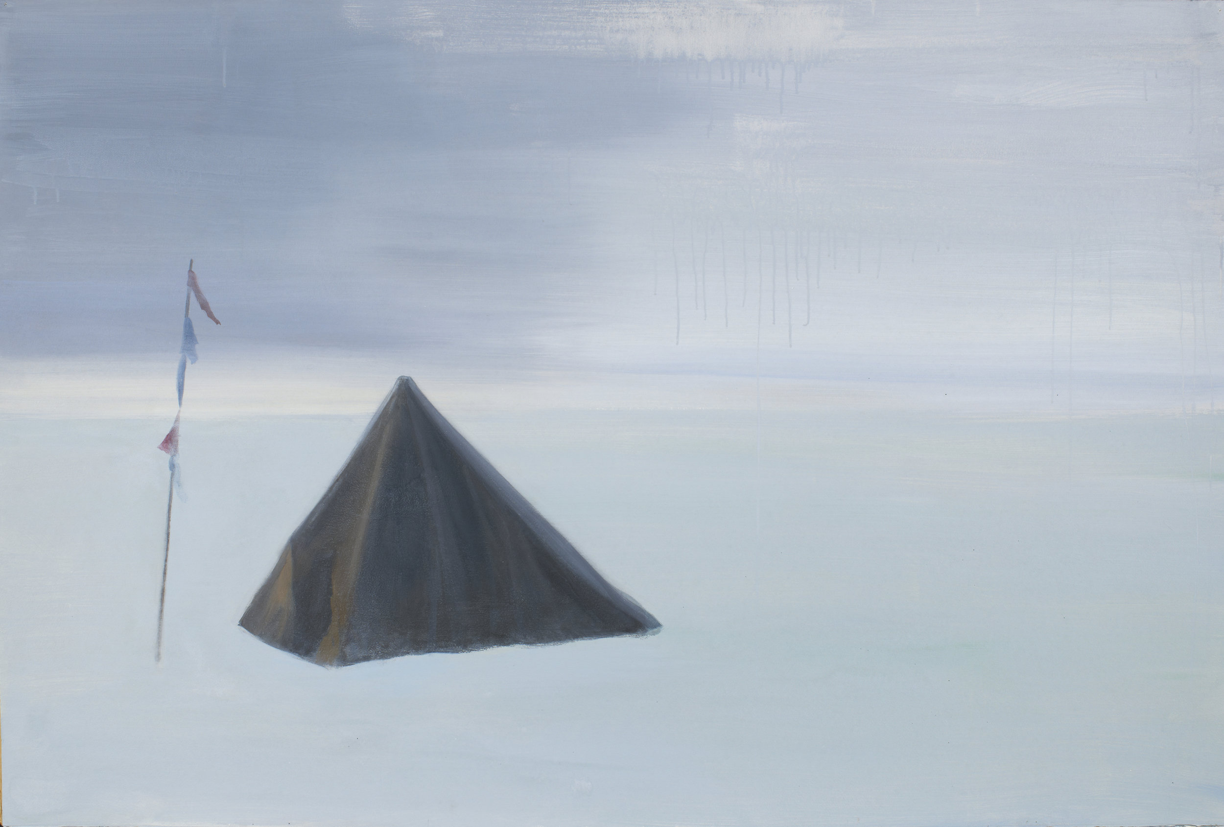 "South Pole (Grave),  2012, acrylic on paper, 40"" x 60"""