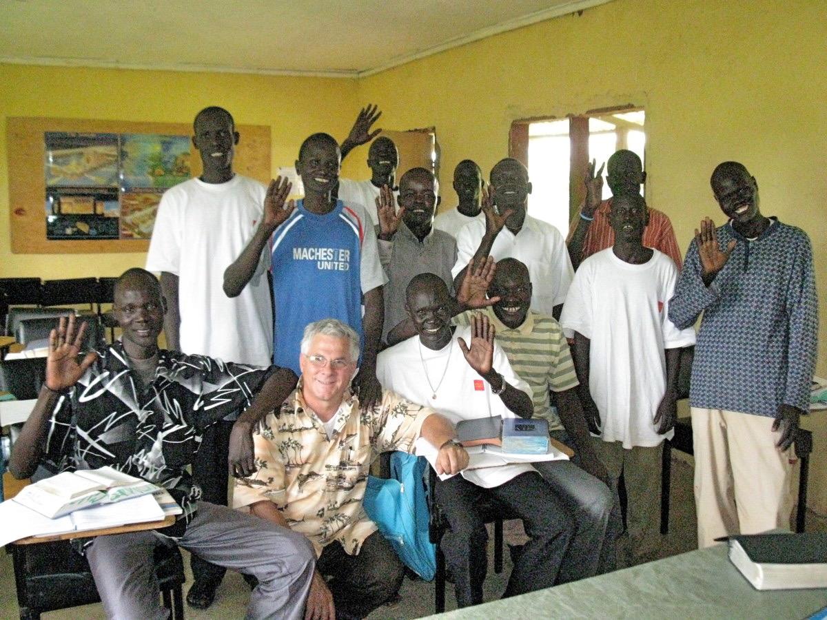 Greg with IDAT Bible School students_Tonj_South Sudan.jpeg