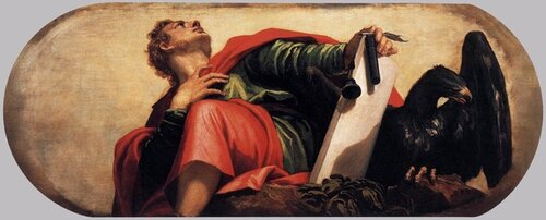 """""""John The Evangelist"""", Veronese Paolo 1528-1588, in Chapel of Our Lady of The Rosary, Basilica dei Santi.jpeg"""