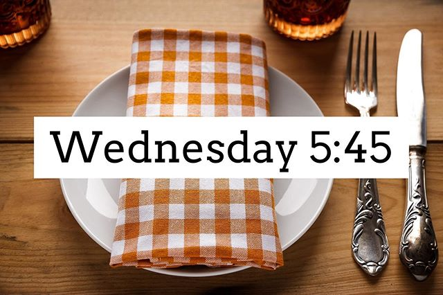 Skip the dishes and join us in a church wide meal of fellowship! AWANA, youth activities and our adult Bible study will meet at 6:30. Hope to see you there!