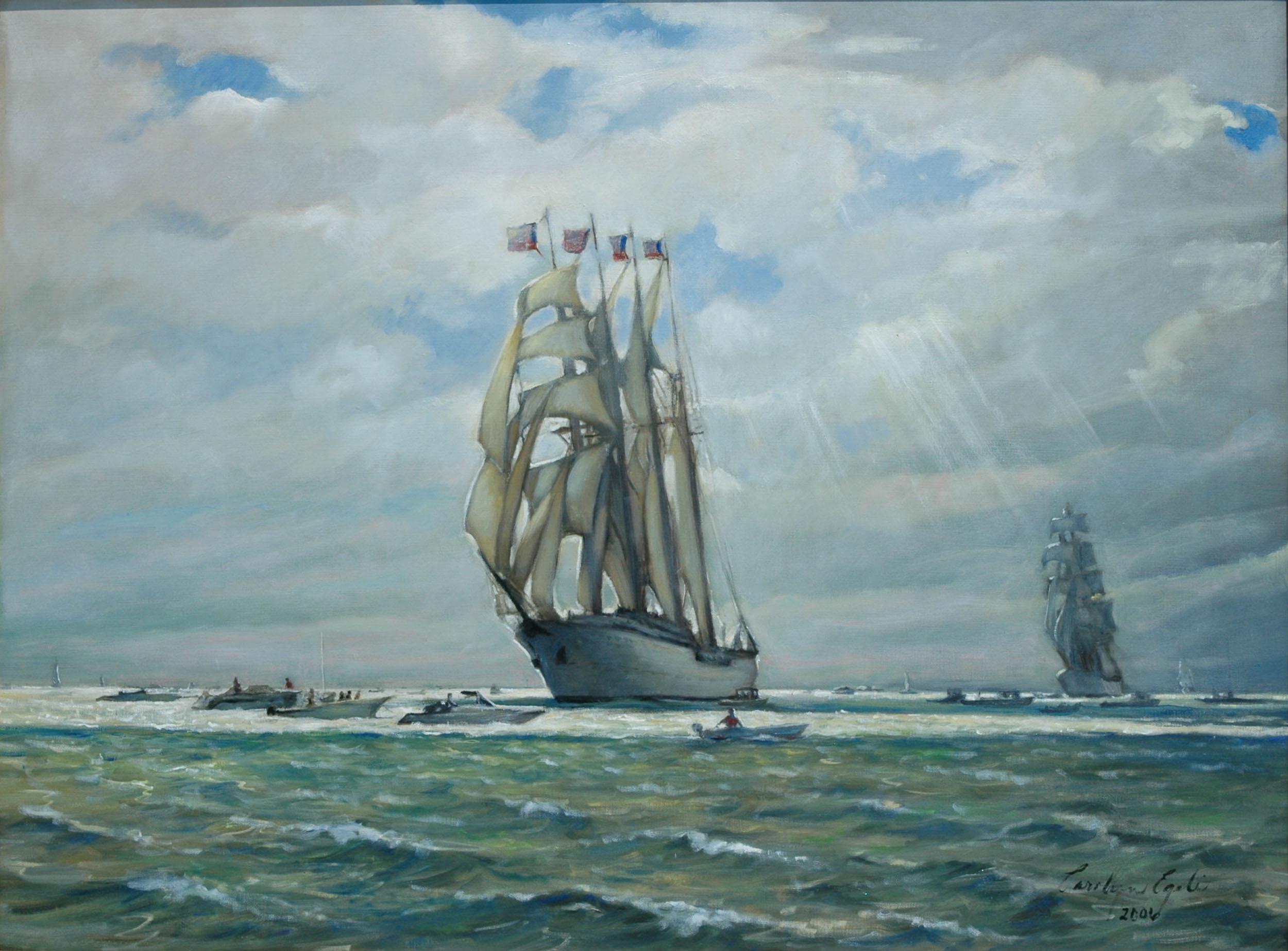 """The Tall Ships at Newport,  36"""" x 48"""""""