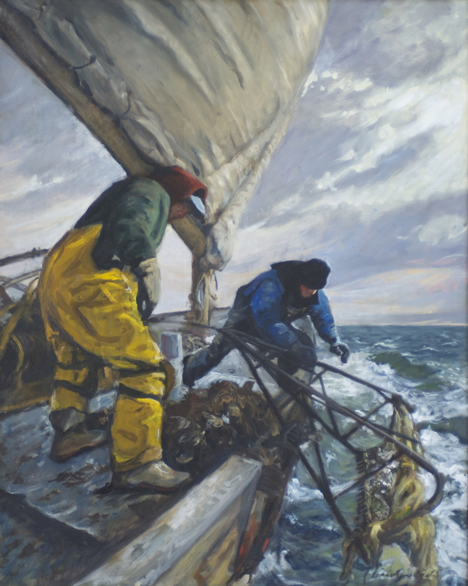 """Working the Water, 24"""" x 30"""" Sold"""