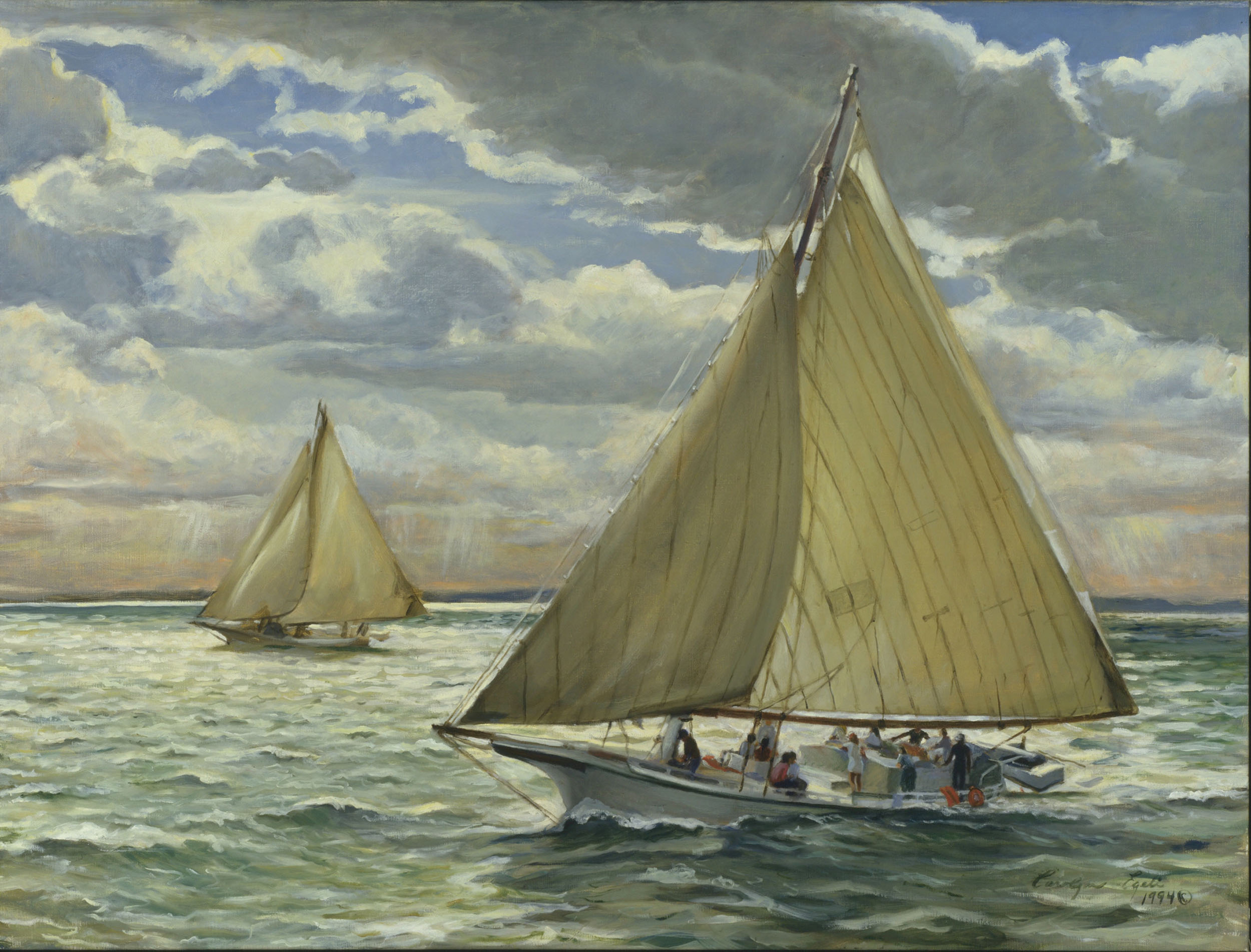 "Deal Island Skipjack Race, 30"" x 40"", Sold"