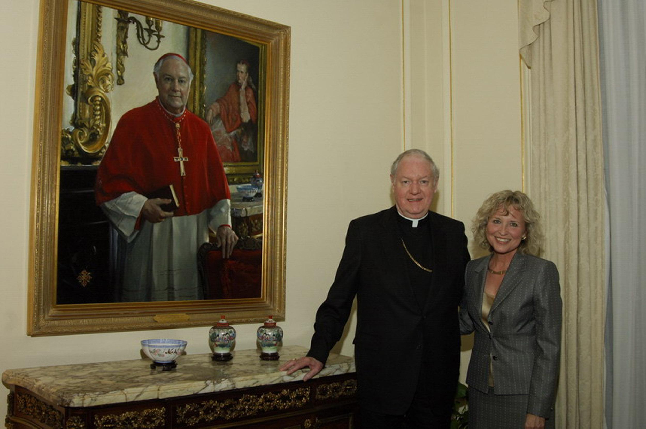 "Cardinal McCarrick, Washington DC. 36"" x 42"". Commission"