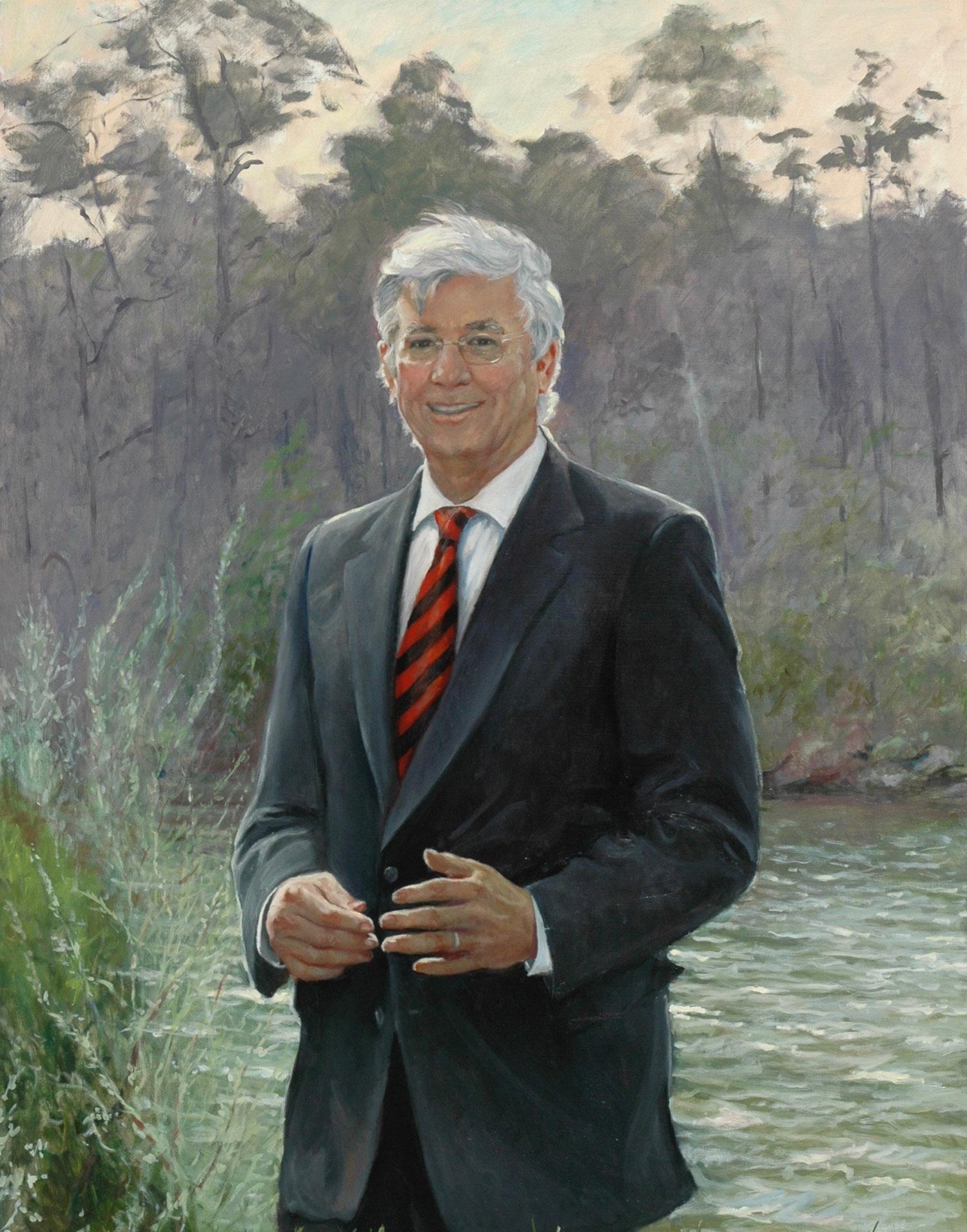 """Maryland Governer Parris Glendening, 36"""" x 42"""", Commission"""