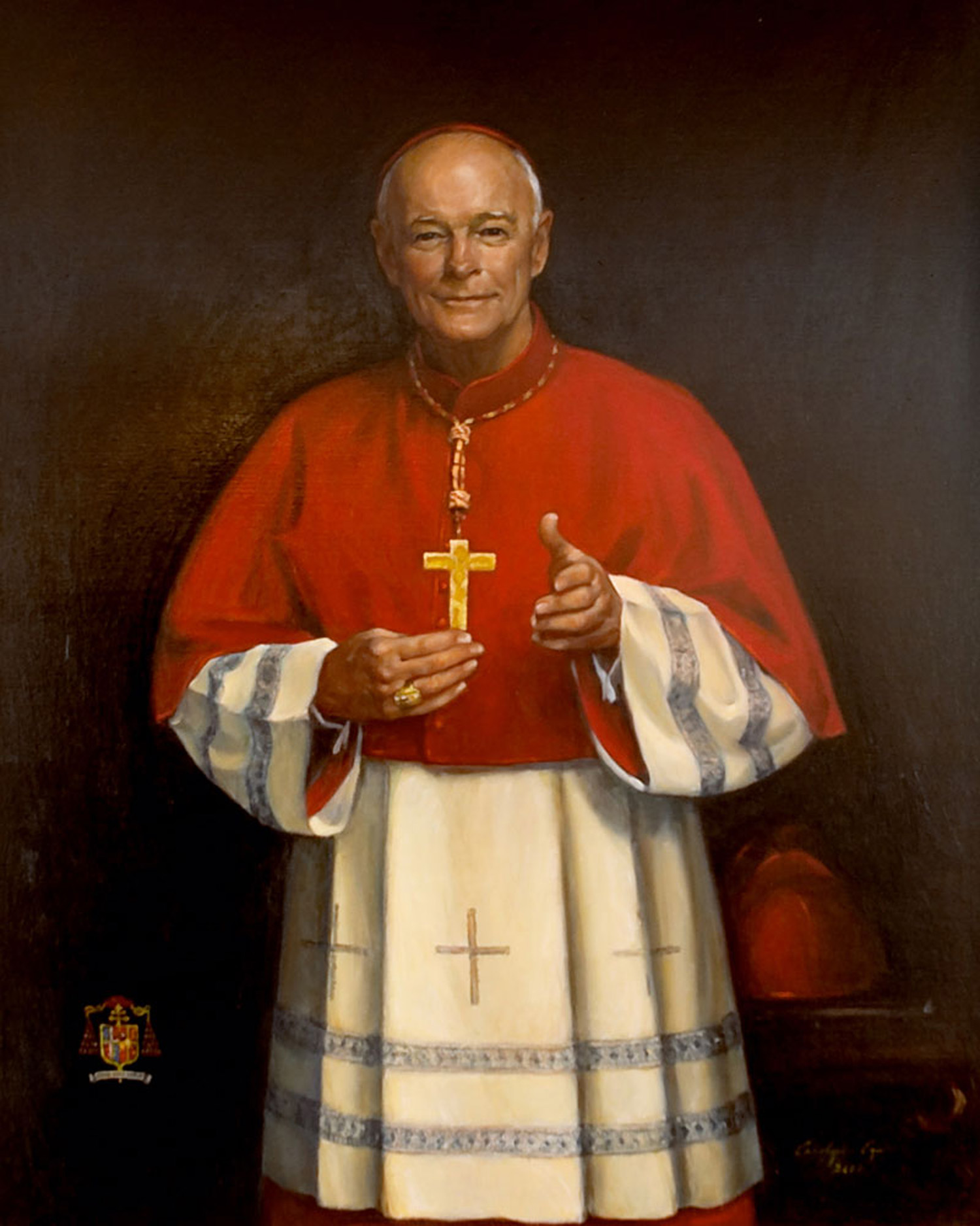 "His Eminence Cardinal Egan, 36"" x 42"". Commission"