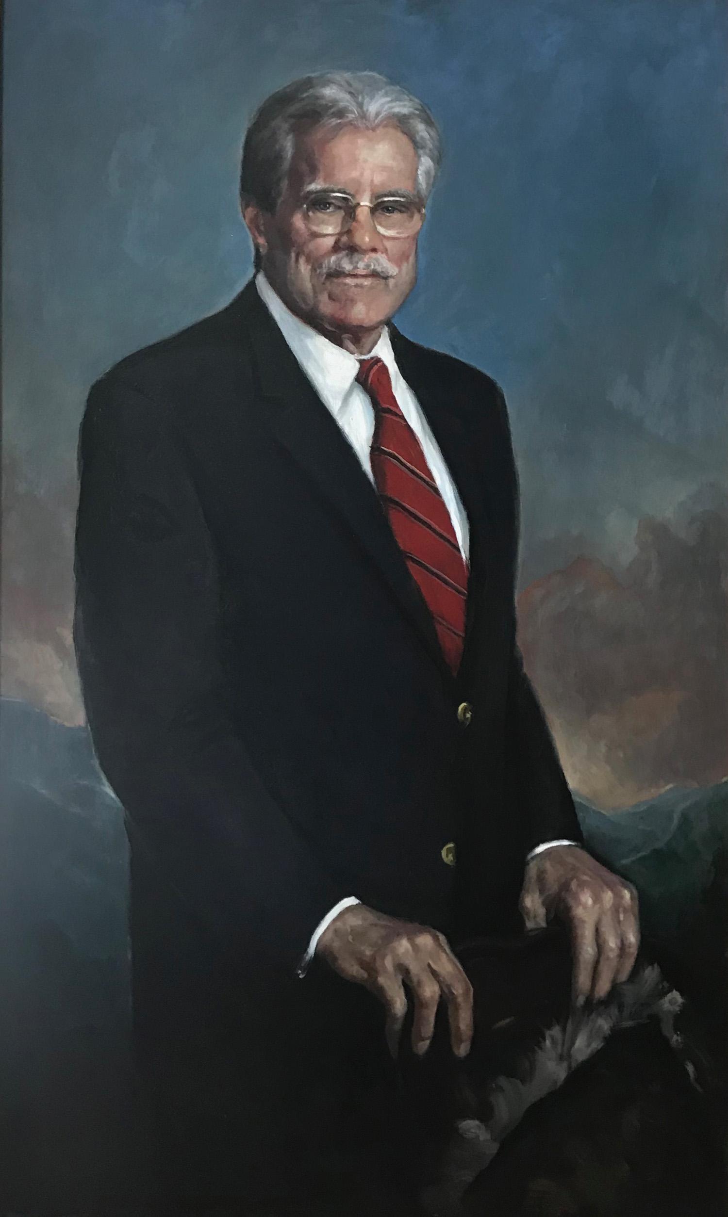 "Senator Mark McDonald, Majority Whip, Vermont Senate, 30"" x 50"", NFS"