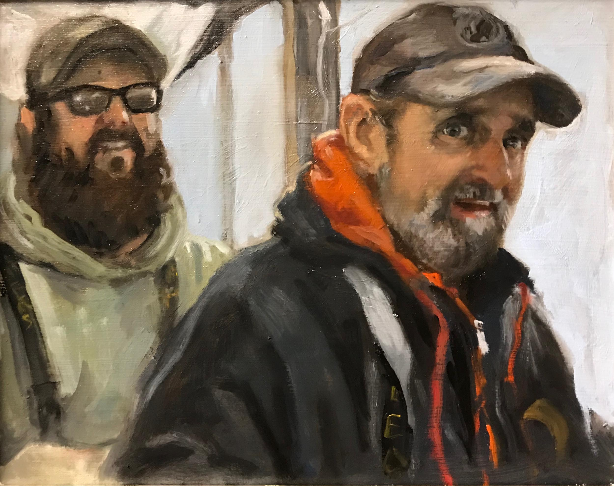 "The Watermen, 12"" x 16"". Commission."