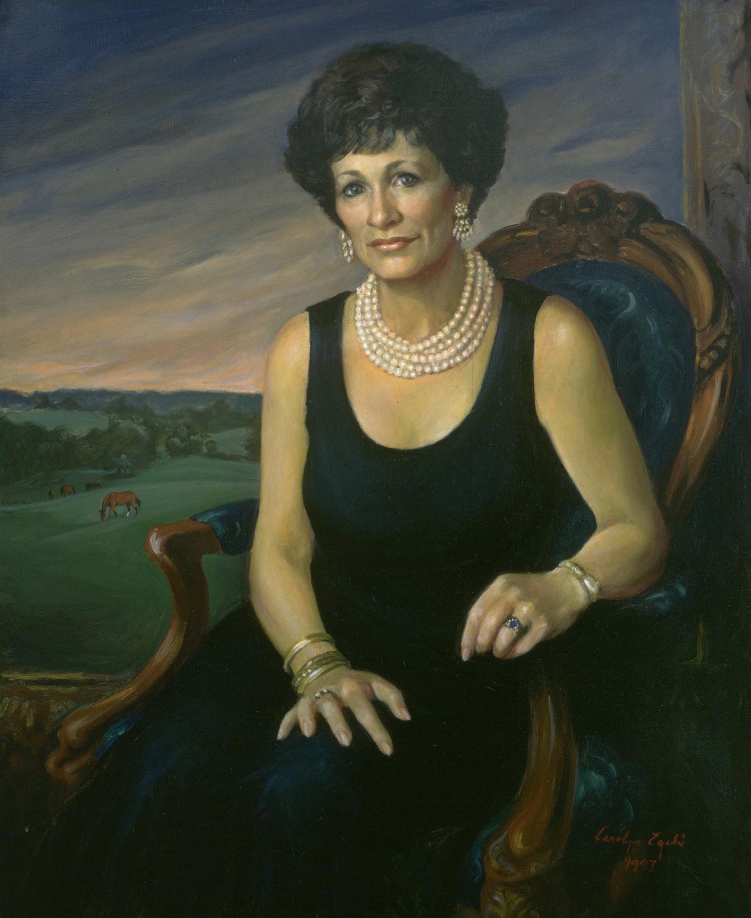 "Portrait of a Lady, 30"" x 36"". Commission."