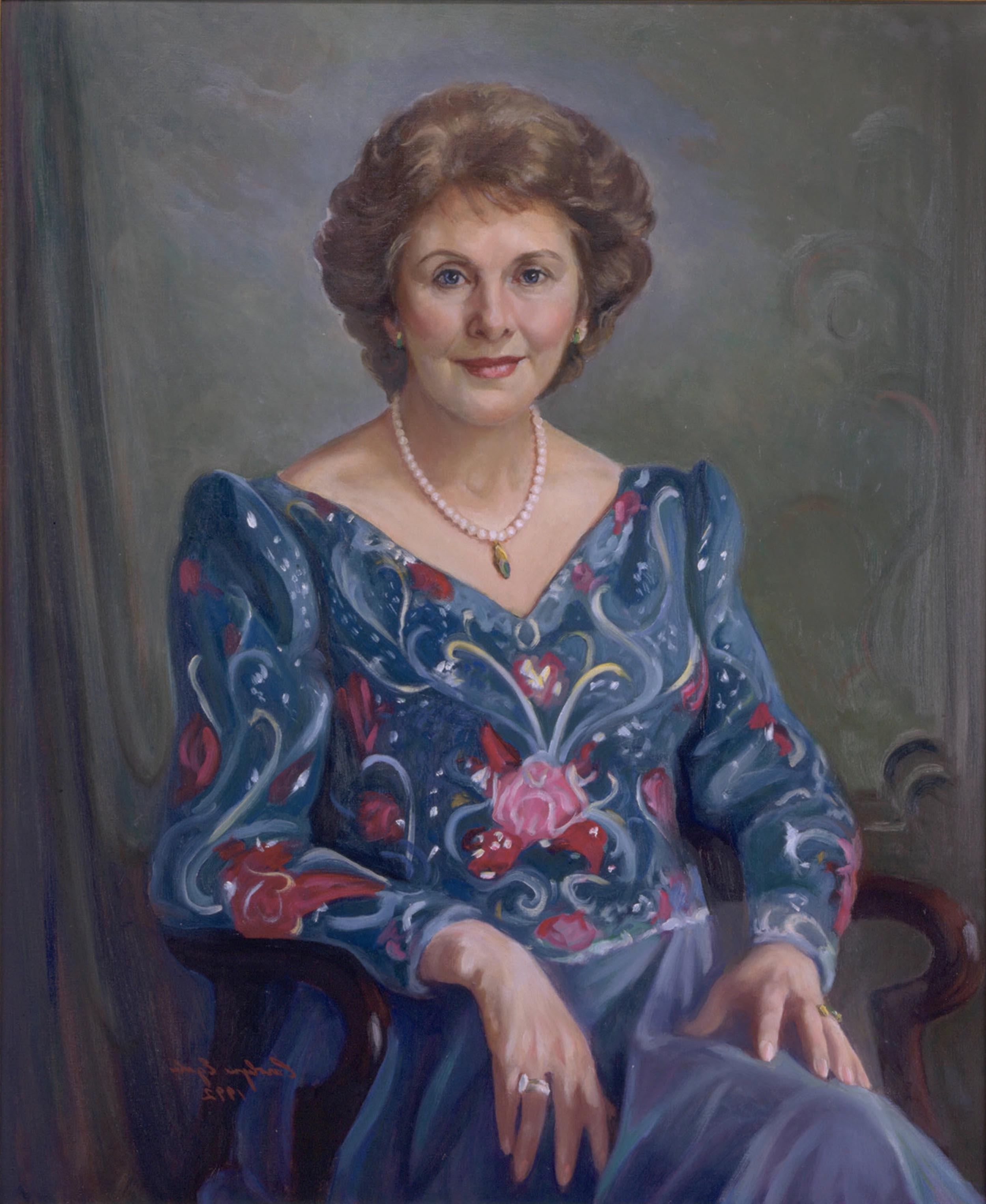 """A North Carolina Lady, 32"""" x 38"""". Commission."""