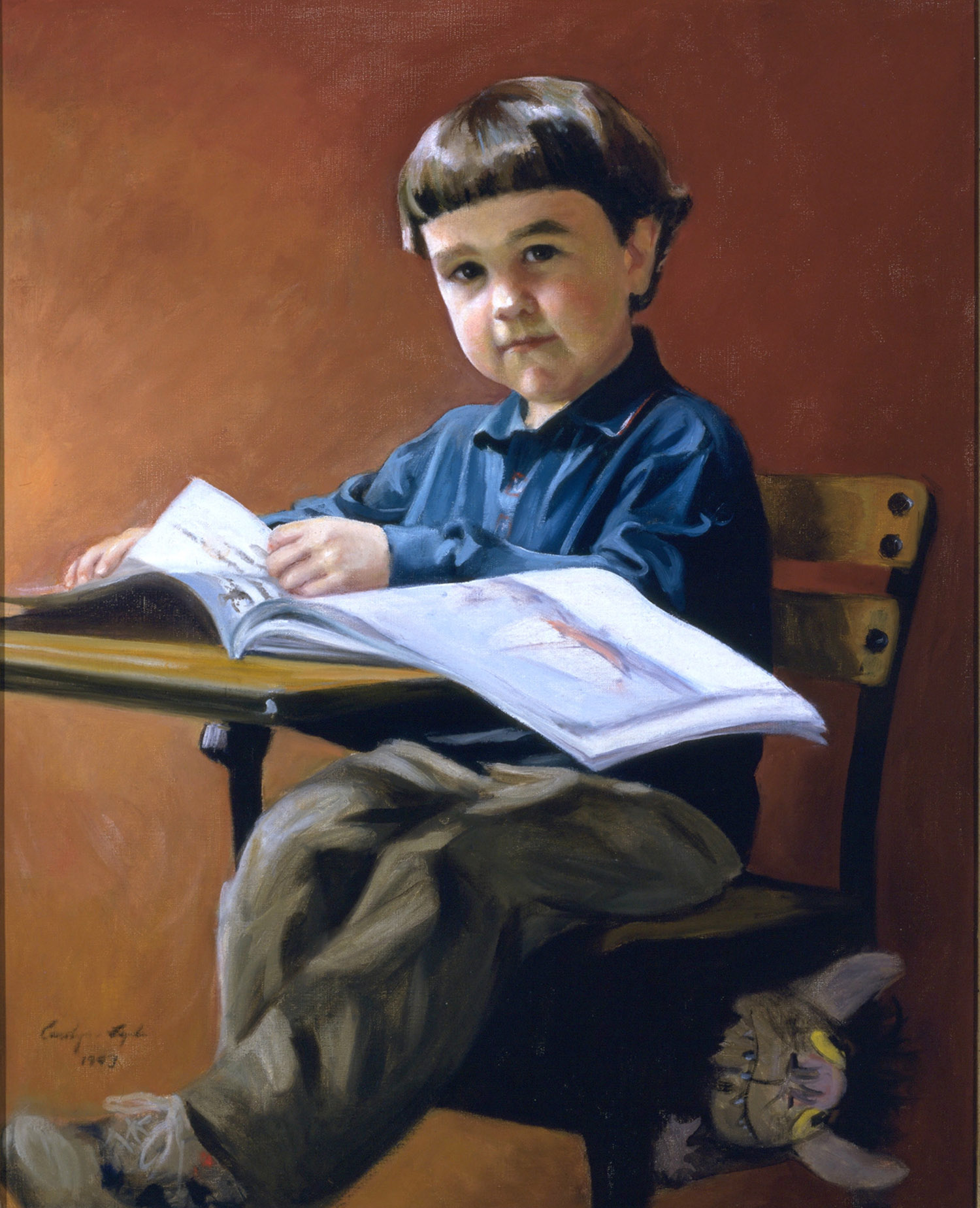 "Little Sam Baldwin, 30"" x 36"". Commission."