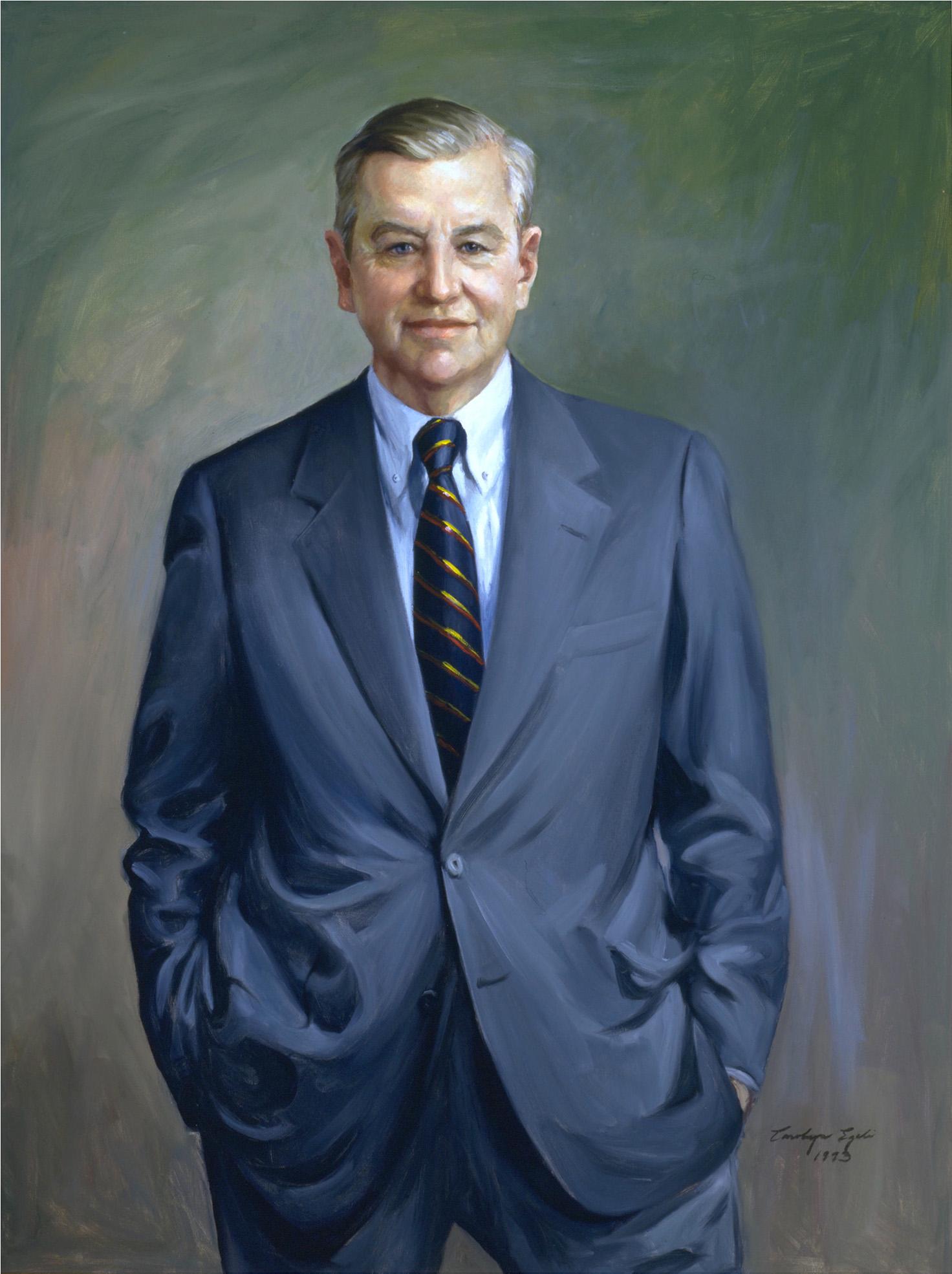 "Maryland Senator Jay Frank Raley, 32"" x 38"". Commission."