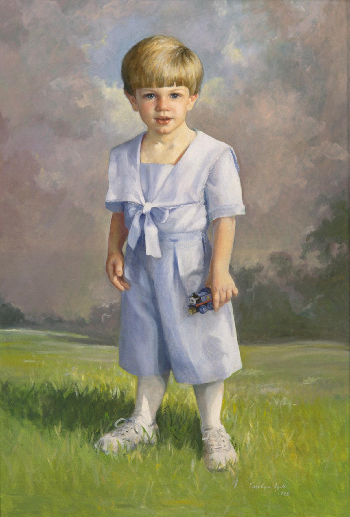 "Blue Boy, 36"" x 48"". Commission."