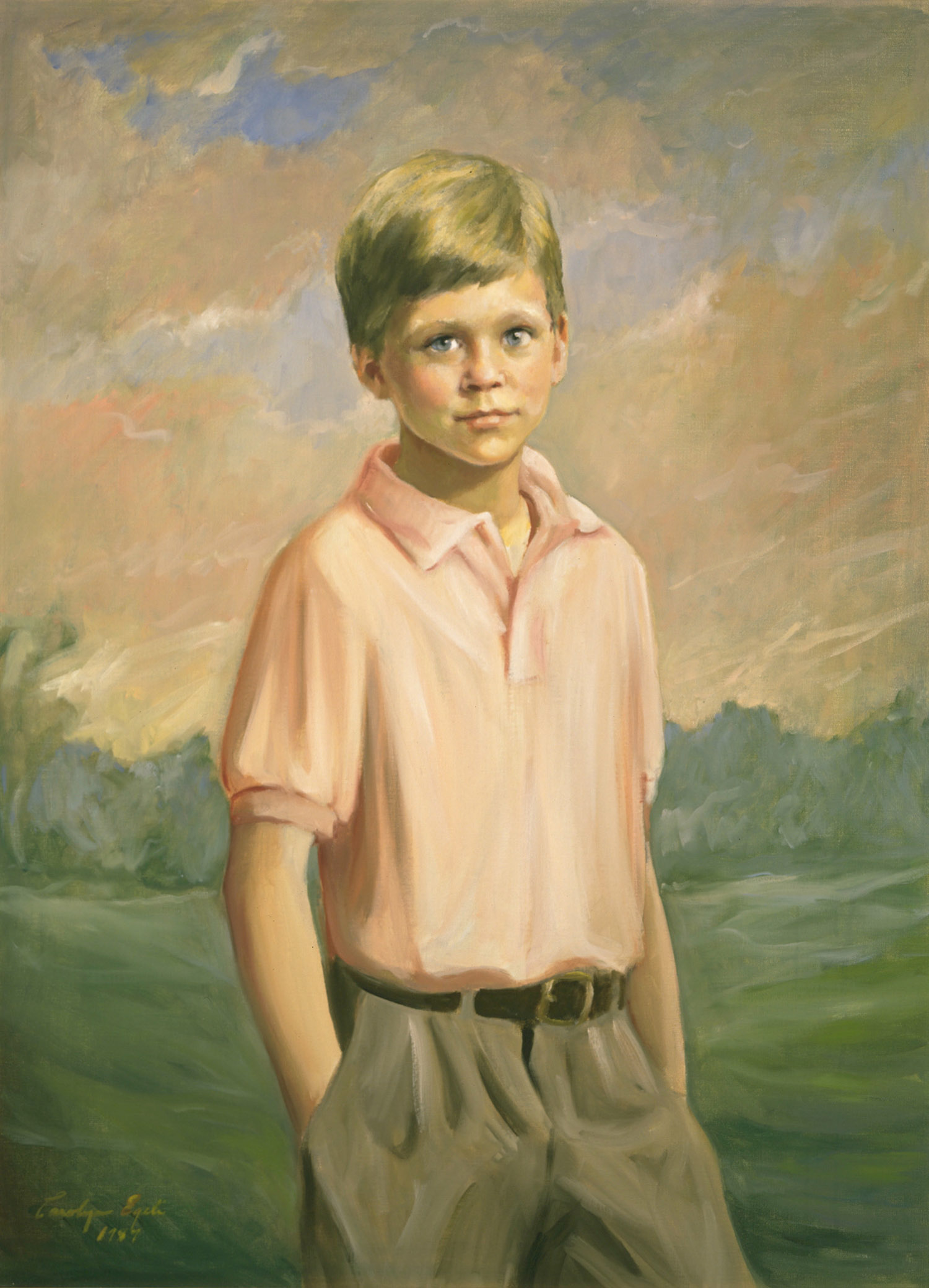 "Young Southern Boy, 30"" x 36"". Commission."