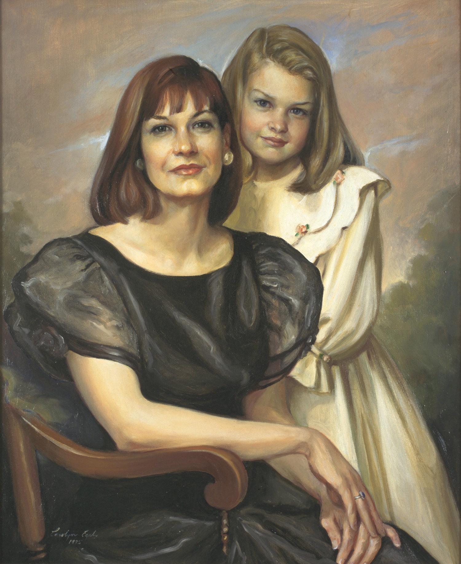 "Andrea Rousseaux and Amalie, 32"" x 38"". Commission."