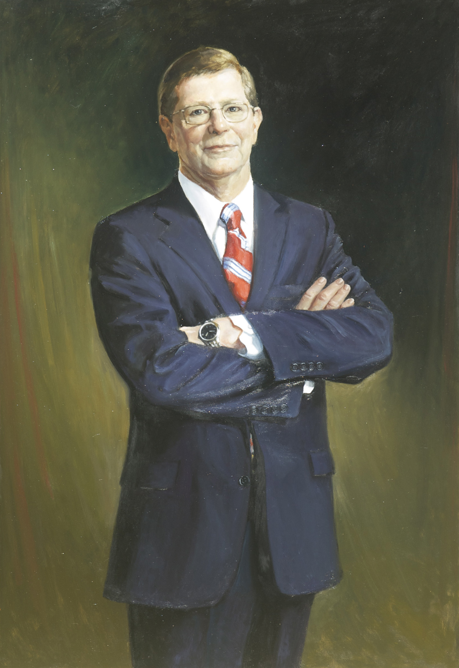 "Mike Middleton, Pres. Community Bank of the Chesapeake, 30"" x 50"". Commission."