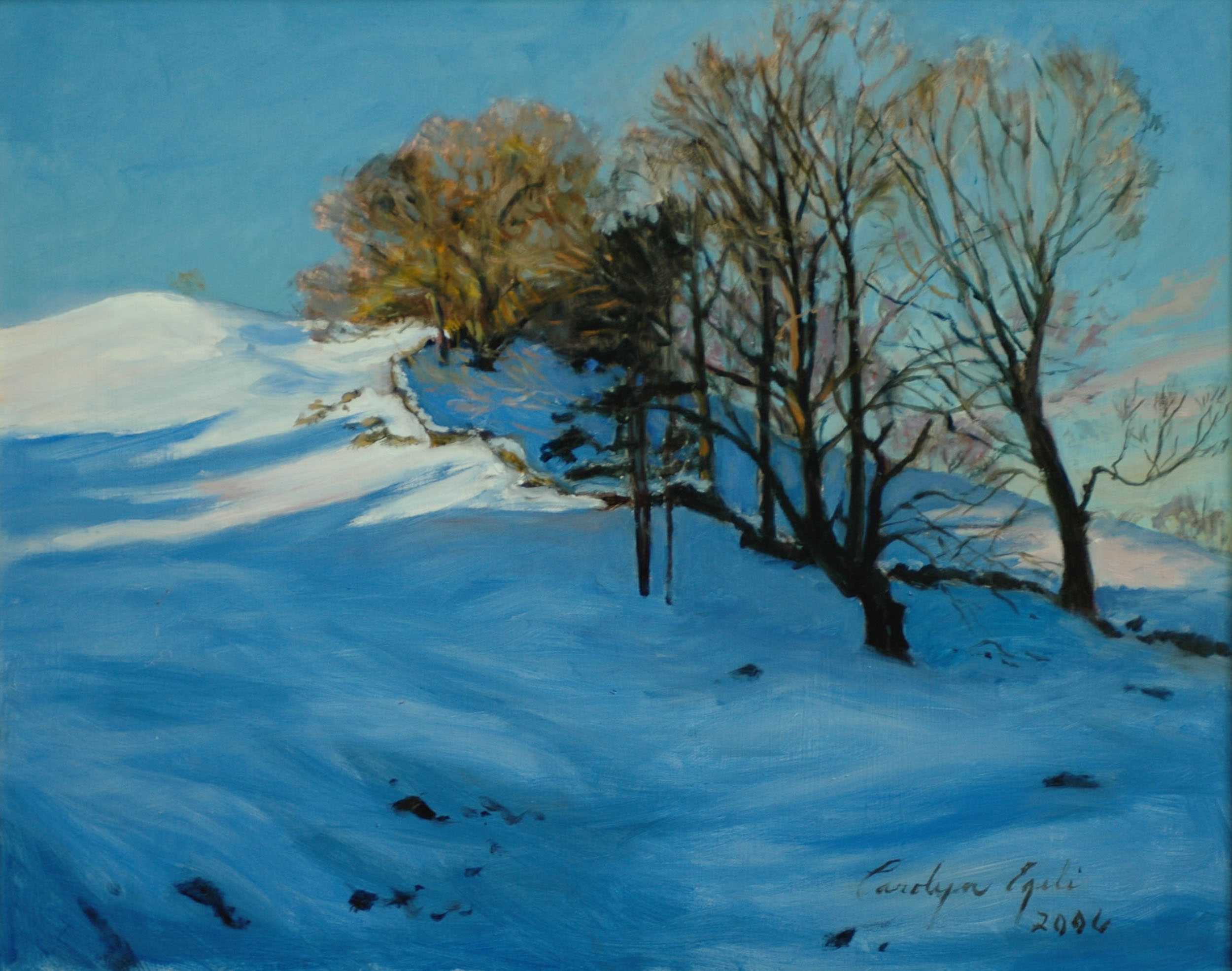 "The Richardson Winter Pasture. 20"" x 24"", Sold"