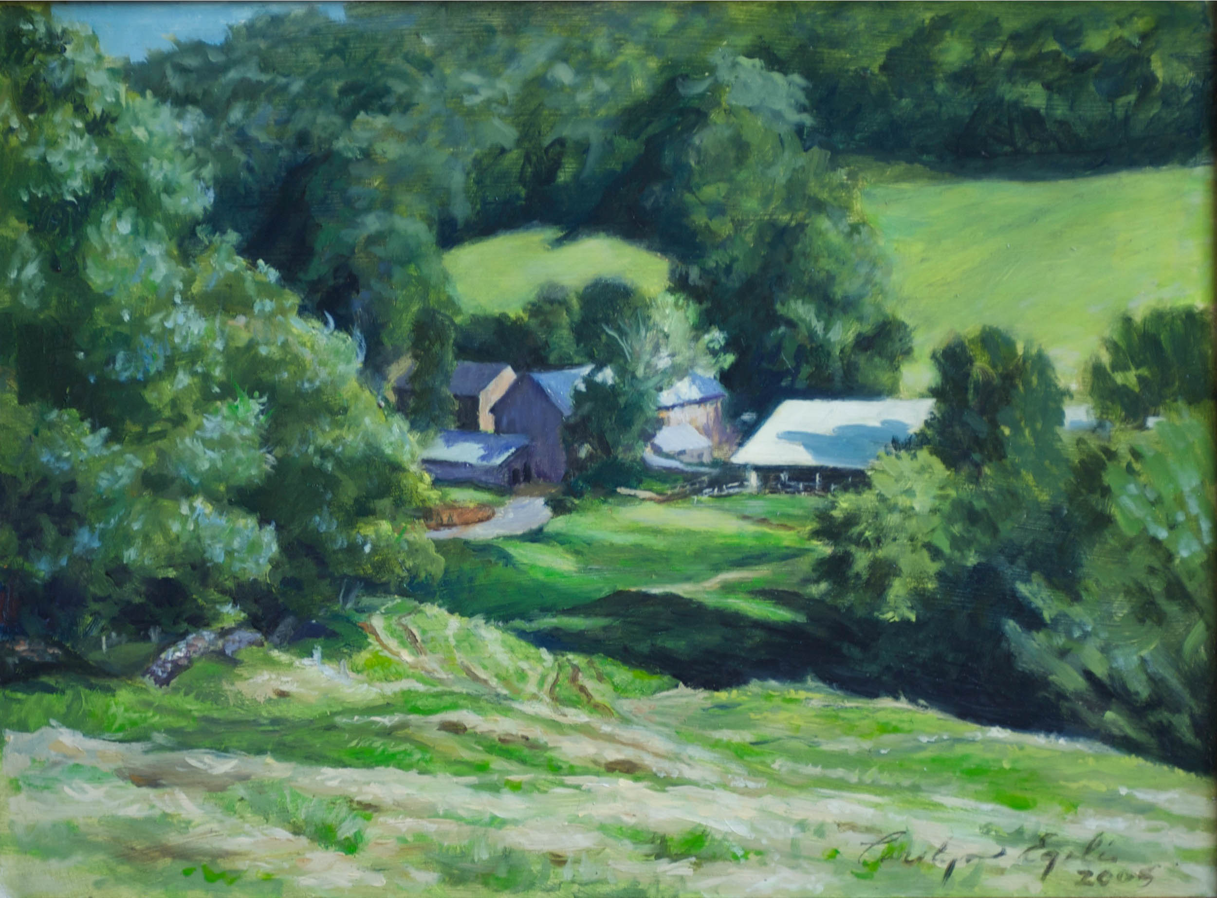 "The Richardson Farm Looking Out Over. 12"" x 16"""