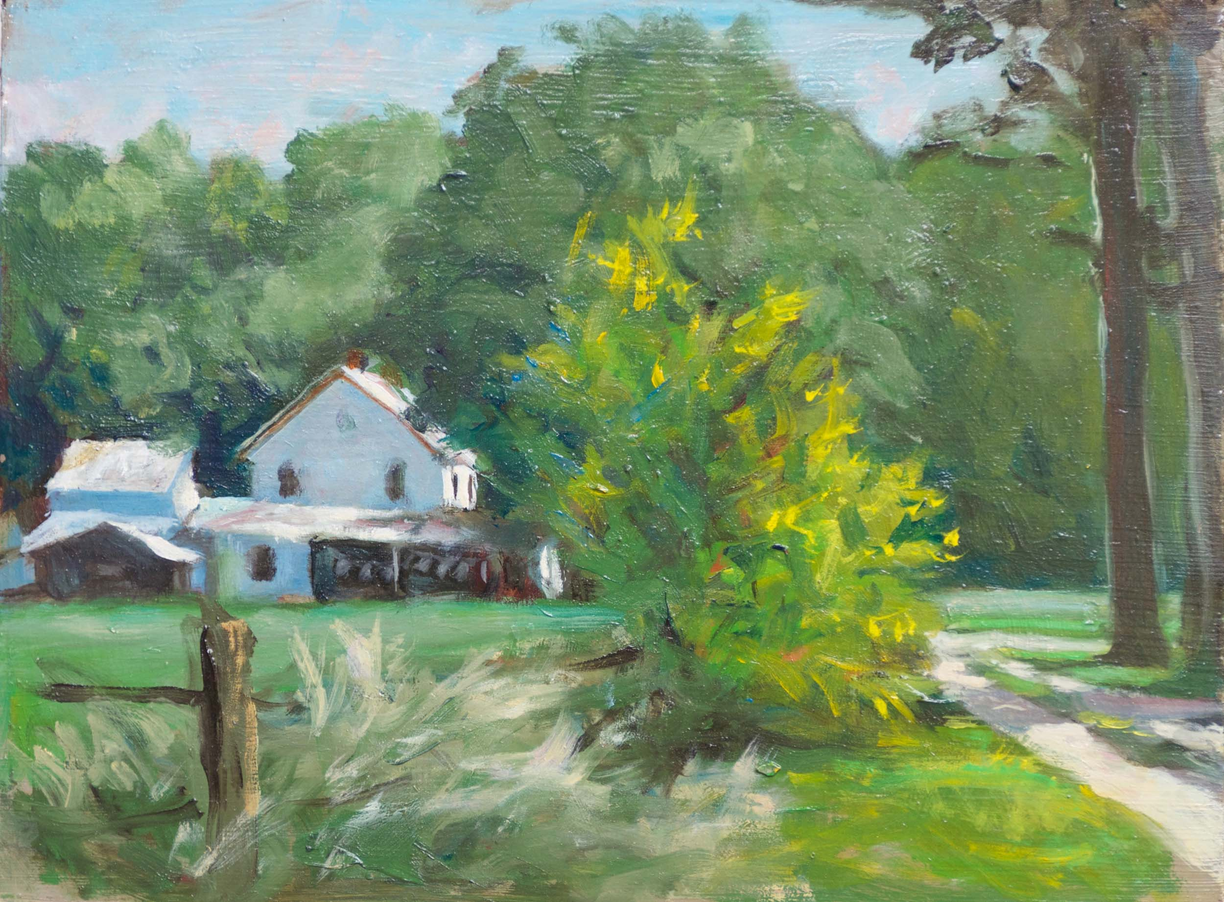 "Mennonite Farmhouse, Maryland, 8"" x 10"""