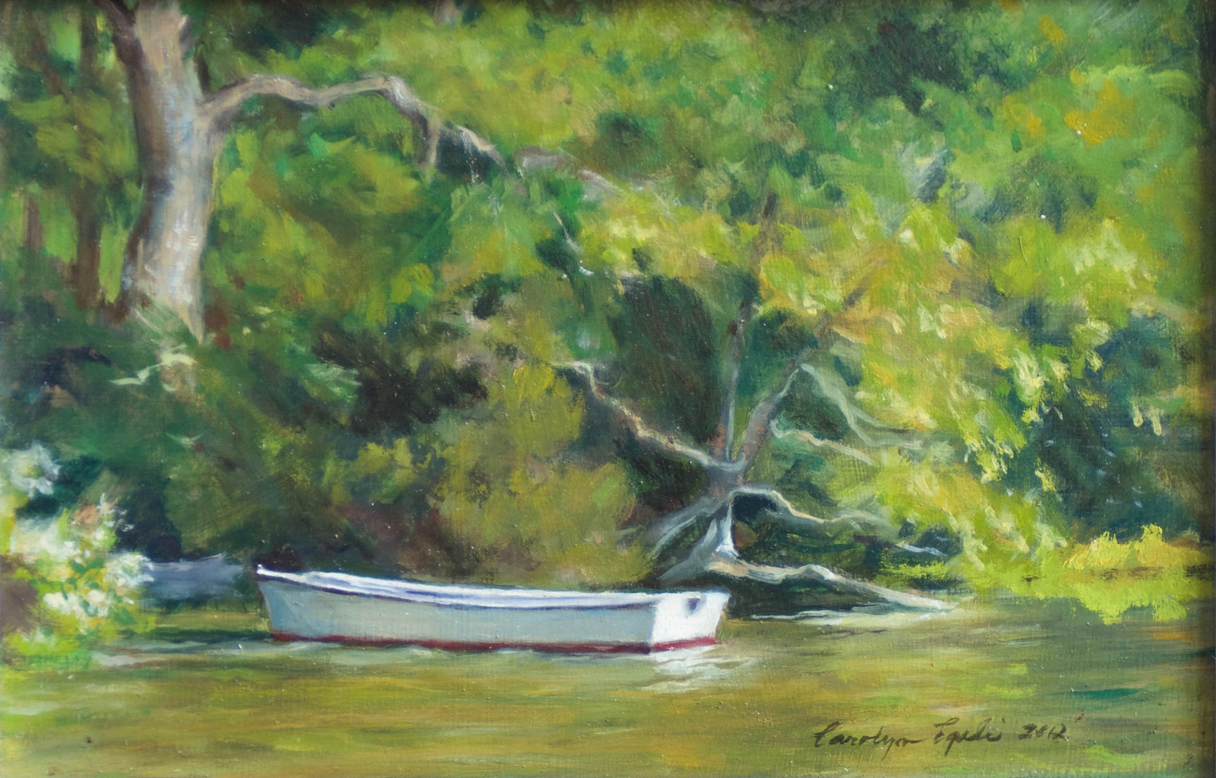 "The Artist's Skiff, 8"" x 10"", Sold"