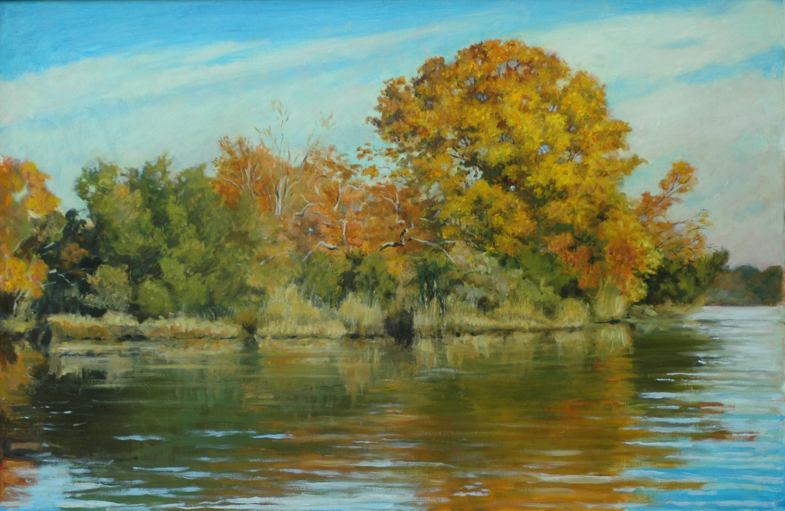 "Fall on Herring Creek, 30"" x 40"", Sold"