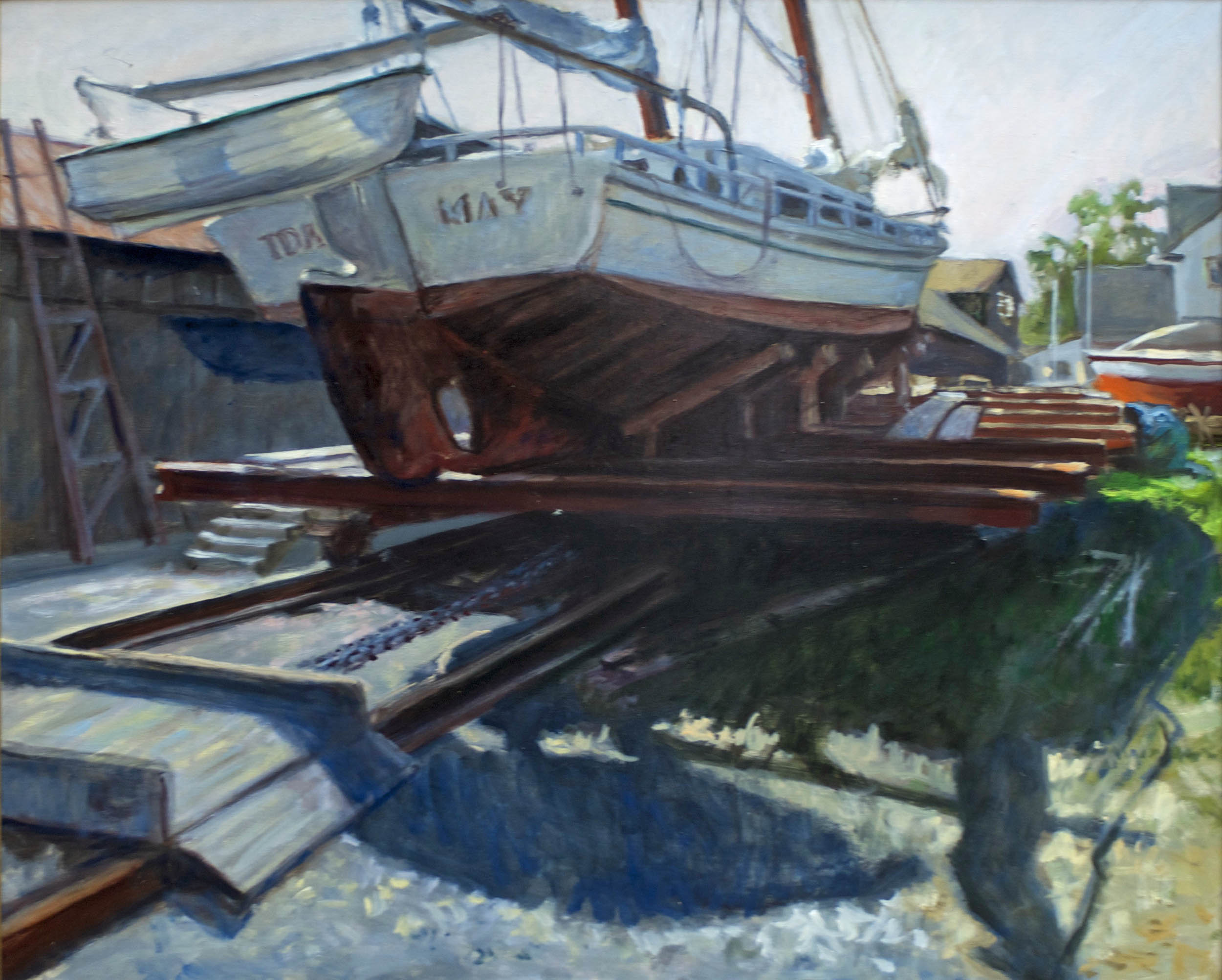 "The Ida May in Dry Dock, 24"" x 30"""