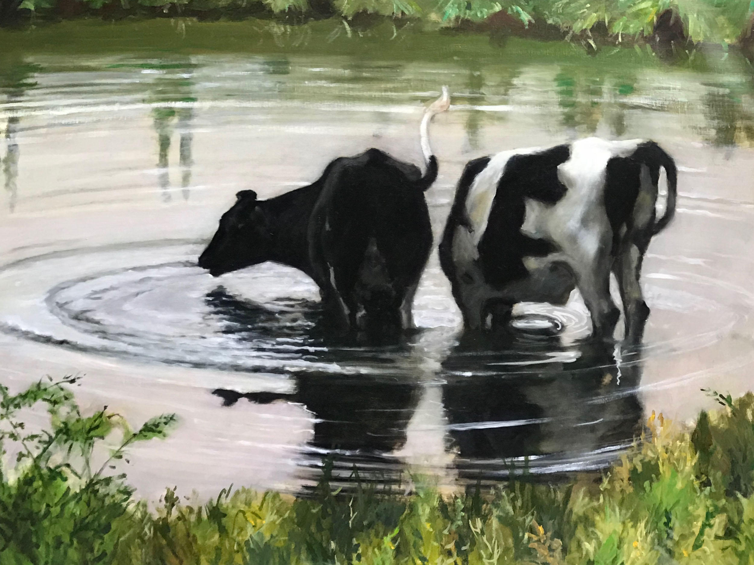 """Cooling Off, 24"""" x 30"""""""